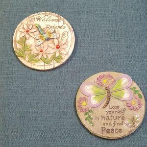 Mini decorative stepping stones, two